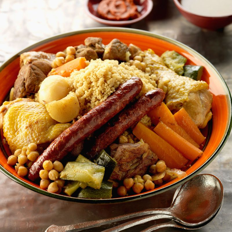Halal Food in Madrid: Moroccan Couscous